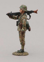 12th SS Hitlerjugend Soldier Stood on Parade (MG 42 over right shoulder), single figure