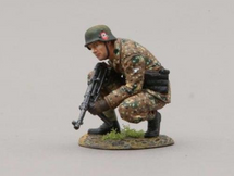 12th SS Hitlerjugend Soldier Crouched Kneeling with MP-40 (with base), single figure