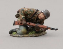 12th SS Hitlerjugend Soldier Kneeling Looking Around Corner (with base), single figure