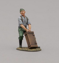 Hitlerjugend Soldier Standing Lifting/Pulling Crate, single figure
