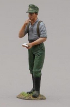 Hitlerjugend Soldier with Notepad and Pencil, single figure