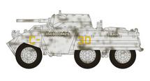 M8 Greyhound US Army 82nd Armored Reconnaissance Btn