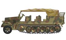 Sd.Kfz.7 Half-Track Diecast Model German Army SS Leibstandarte, SS-924015 Marta