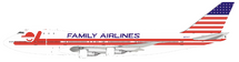 Family Airlines Boeing 747-100 N93117 With Stand