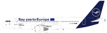 Lufthansa Airbus A320-214 D-AIZG Say yes to Europe With Stand