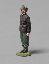 12th SS Panzer Division Tanker Looking Left (leather Italian submarine jacket & camouflage cap) single figure, WWII