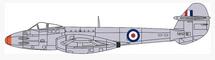 Gloster F.3 Meteor RAF Hednesford, Staffs, England, 1955