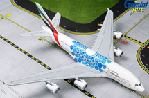 Emirates Airlines A380-800, A6-EOC Expo 2020 Blue Mobility Baubles Gemini Diecast Display Model