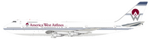 America West Airlines Boeing 747-200 PH-BUC With Stand