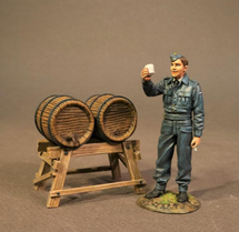 Ground Crew with Beer Kegs (set 2), The Second World War, single figure and beer keg stand