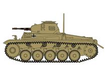 Sd.Kfz.121 Panzer II F German Army 10.PzDiv 7.PzRgt, Tunisia, 1943