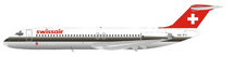 Swissair McDonnell Douglas DC-9-32 HB-IFV With Stand