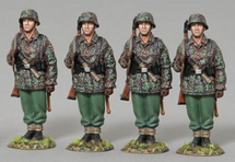 Four 12th SS Infantrymen on Parade four figures, WWII