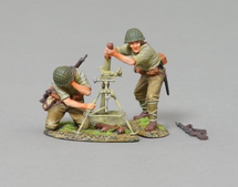 Japanese 80mm with Crew two crew, mortar, rifle, WWII