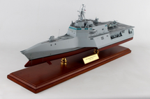USS Independence (LCS-2) Littoral Combat Ship US Navy 1/120 Mahogany Display Model