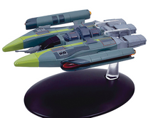 Vaadwaur Fighter, Comes With Collector Magazine, Star Trek by Eaglemoss Collections