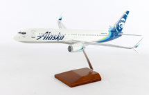 Alaska B737-900ER 1/100 w/Double Scimitar Winglets Mahogany Display Model