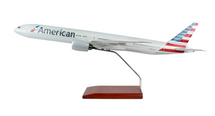 American Airlines B777-300 New Livery 1/100 Mahogany Display Model