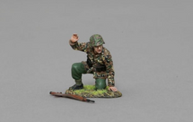 Kneeling SS Gunner with Arm Raised, single figure