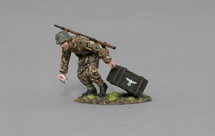 SS Soldier Bringing Up Ammunition WWII, single figure