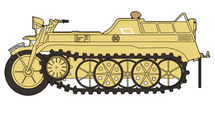Sd.Kfz.2 Kettenkrad Diecast Model German Army 20.PzDiv, USSR, 1944