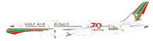 Gulf Air Boeing 787-9 Dreamliner A9C-FG 70th anniversary With Stand