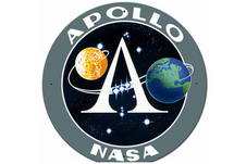 Apollo 11 50th Anniversary Apollo Insignia Black Large Metal Sign Pasttime Signs