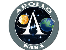 Apollo 11 50th Anniversary Apollo Insignia Black Small Metal Sign Pasttime Signs