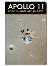 Apollo 11 50th Anniversary CSM Columbia in Lunar Orbit Black Metal Sign Pasttime Signs