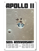 Apollo 11 50th Anniversary CSM Columbia in Lunar Orbit White Metal Sign Pasttime Signs