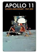 Apollo 11 50th Anniversary Eagle LM LEM Lunar Module Black Metal Sign Pasttime Signs