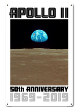 Apollo 11 50th Anniversary Earthrise Metal Sign Pasttime Signs