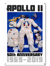 Apollo 11 50th Anniversary EVA Spacesuit Space Suit White Metal Sign Pasttime Signs