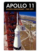 Apollo 11 50th Anniversary LES Launch Escape System Tower Black Metal Sign Pasttime Signs