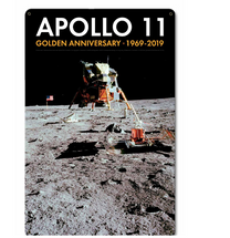 Apollo 11 50th Anniversary LM Eagle on the Moon Black Metal Sign Pasttime Signs