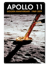 Apollo 11 50th Anniversary Lunar Module Strut and Footpad Black Metal Sign Pasttime Signs