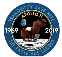Apollo 11 50th Anniversary Mission Insignia Metal Sign Pasttime Signs