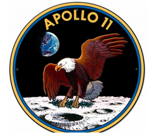 Apollo 11 50th Anniversary Mission Patch Insignia Large Metal Sign Pasttime Signs