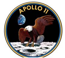 Apollo 11 50th Anniversary Mission Patch Insignia Small Metal Sign Pasttime Signs