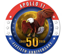 Apollo 11 50th Anniversary Patriotic Metal Sign Pasttime Signs