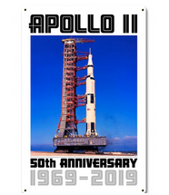 Apollo 11 50th Anniversary Saturn V Metal Sign Pasttime Signs