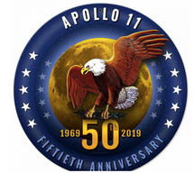Apollo 11 50th Anniversary Starfield Metal Sign Pasttime Signs