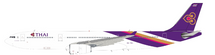 Thai Airways A330-343 HS-TBC with stand