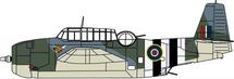 TBF Avenger Mk.II (TBM-1C)  No. 855 Squadron, Royal Navy Fleet Air Arm, RAF Hawkinge, June 1944