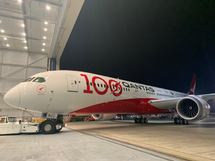 Qantas Boeing 787-9 Dreamliner VH-ZNJ With Stand 100 Year Anniversary