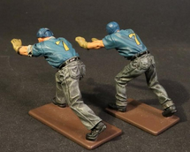 Two Plane Handlers Pushing, USS Saratoga (CV-3), Inter-War Aviation WWII, Single Figure