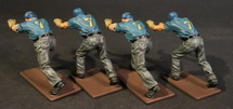 Four Plane Handlers Pushing, USS Saratoga (CV-3), Inter-War Aviation WWII, Single Figure