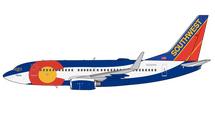 Southwest B737-700W N230WN Colorado One Livery Gemini Jets Diecast Display Model