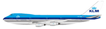 KLM Royal Dutch Airlines Boeing 747-200 PH-BUH Polished With Stand