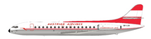 Austrian Airlines Sud SE-210 Caravelle VI-R OE-LCE With Stand, 120 MODELS MADE